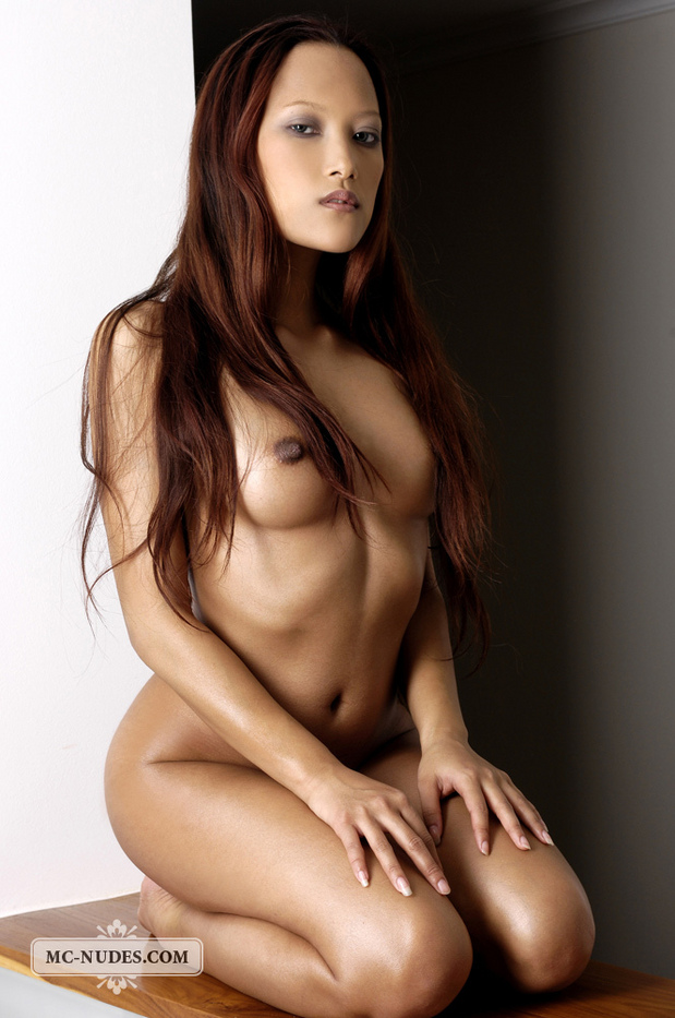 Asian beauty Ayla expose every single pore of her blossom body.; Asian Brunette