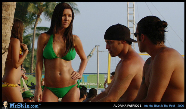 Smokeshow Audrina Patridge in green bikini; Celebrity