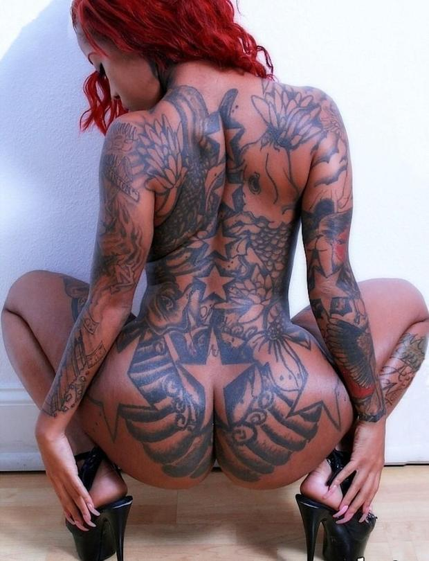 ...; Ass Ebony Hot Red Head Tattoo