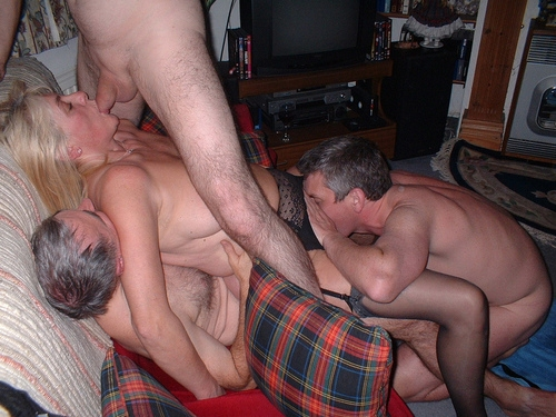 Wives strap on fucking husbands