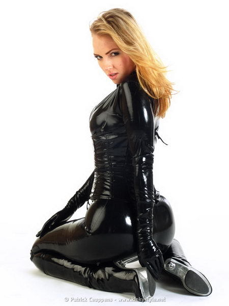 ...; Ass Black Blonde Boots Catsuit Gloves Hot Latex Non Nude Shiny
