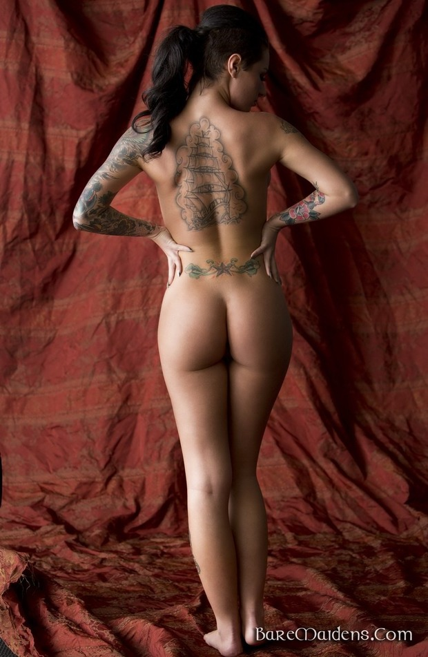 ...; Ass Brunette Hot Tattoo