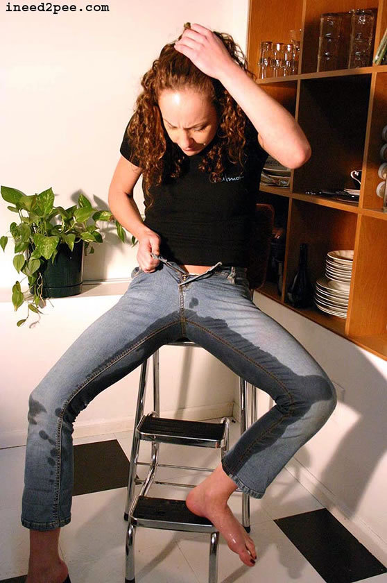 ...; Fetish Hot Jeans Pee Red Head
